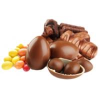 Батончики, шоколадные яйца, драже