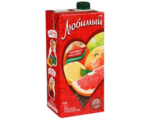 Напиток Любимый сокосодержащий Грейпфрут, лимон и лайм, 0,95 л