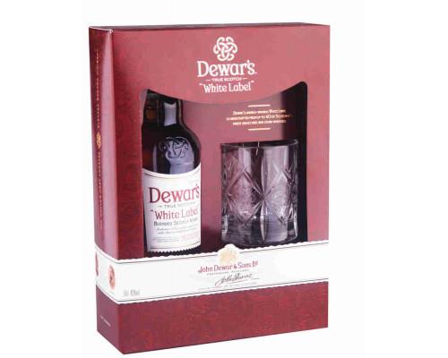 Виски Dewar`s White Label 0,7л + 1 бокал п/упак