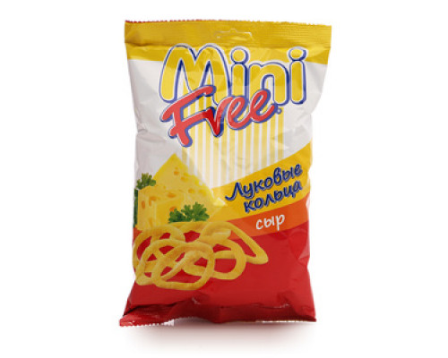 Кольца луковые со вкусом сыра ТМ Mini Free (Мини Фри)