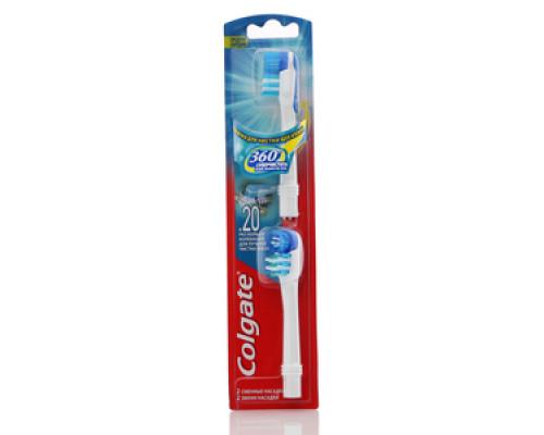 Сменная насадка для зубной щетки, автоматическая 360 Суперчистота всей полости рта средней жесткости ТМ Colgate (Колгейт)