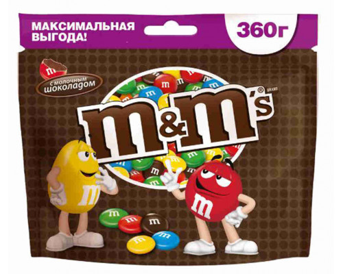 Драже Mars M&M`s с шоколадом 360г