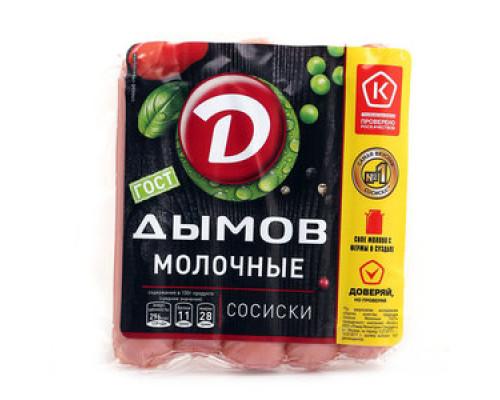Сосиски Молочные ТМ Дымов, 300 г
