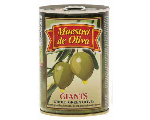 Оливки Maestro de Oliva гигант с/к 420г ж/б