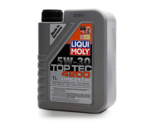 Масло моторное синтетическое 5W-30 TOP TEC 4200 Longlife III ТМ Liqui Moly (Ликви Моли)