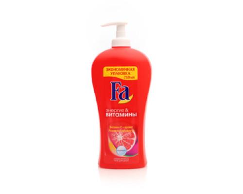 Гель для душа энергия и витамины с ароматом розового грейпфрута ТМ FA (ФА)