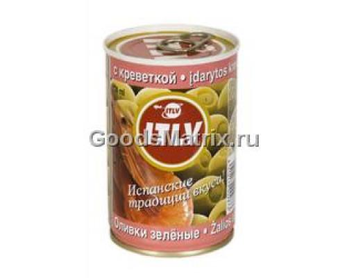 Оливки зеленые ITLV (ИТЛВ) с креветками 314 мл