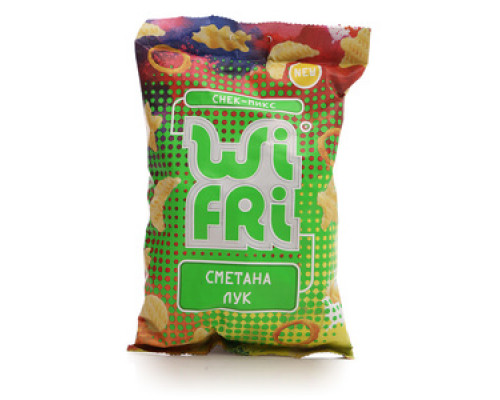 Снек-микс со вкусом сметаны и лука ТМ Wi Fri (Вай Фри)