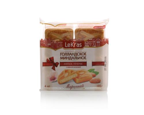 Печенье мягкое Голландское Миндальное с нежной начинкой Марципай ТМ LeKras (ЛеКрас)