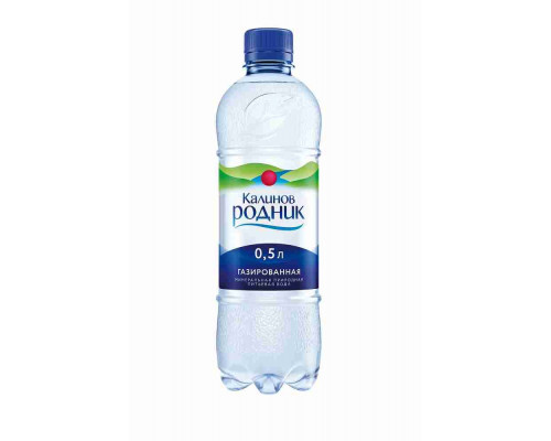 Вода питьевая Калинов Родник газ 0.5л пэт