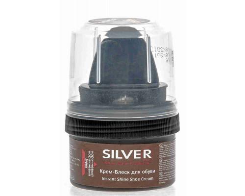 Крем-блеск д/обуви Silver коричневый 50мл банка