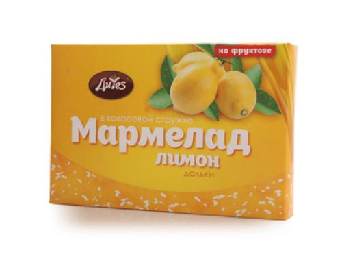 Мармелад в кокосовой стружке лимон на фруктозе ТМ ДиYes (Диес)