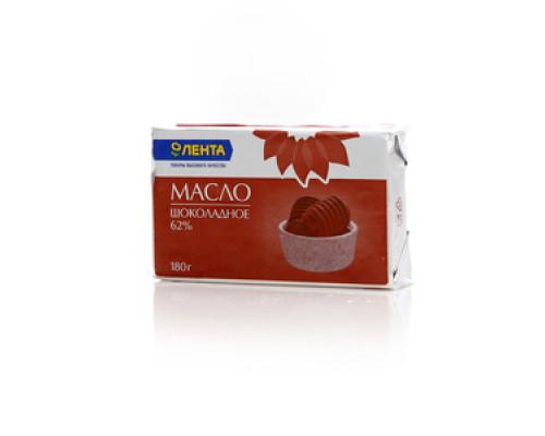 Масло сливочное шоколадное 62% ТМ Лента