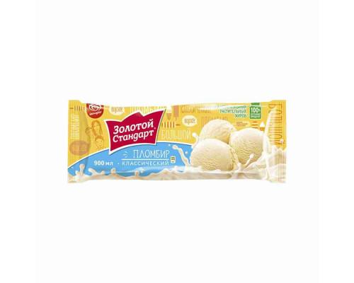 Мороженое пломбир Золотой стандарт 495г пак