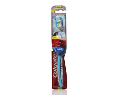Зубная щетка 360 Межзубная чистка. Средней жесткости ТМ Colgate (Колгейт)