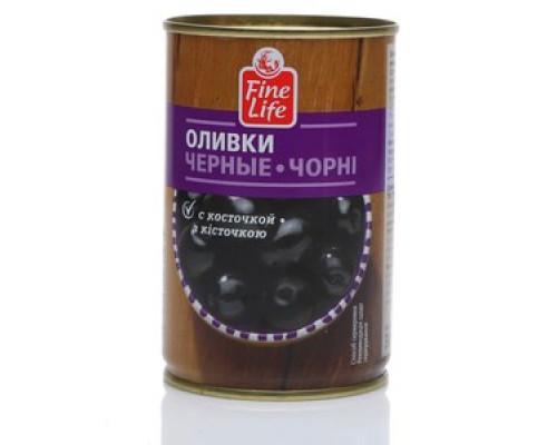 Оливки черные с косточкой ТM Fine Life (Файн Лайф)
