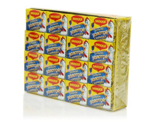 Бульон золотой с курицей ТМ Maggi (Магги), (48 кубиков по 10 г)