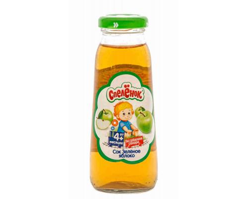 Сок Спелёнок зеленое яблоко с 3мес 200мл ст/б