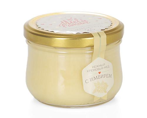 Крем-мёд Miel de lamour цветочный с имбирем 250 г