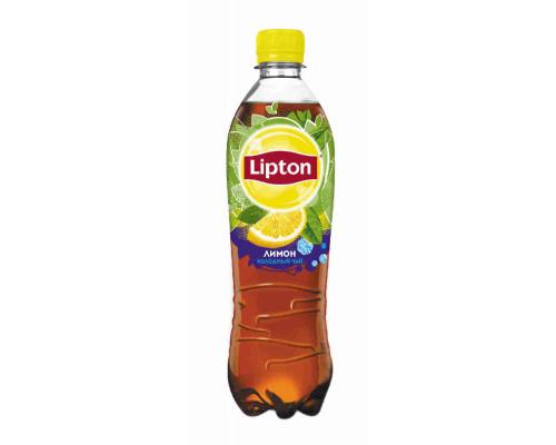 Напиток Lipton чай черный б/алк лимон 0,5л пэт