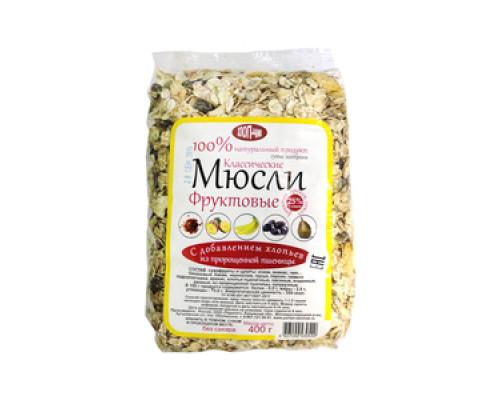 Мюсли фруктовые с хлопьями пророщенной пшеницы ТМ Хлоп-чик