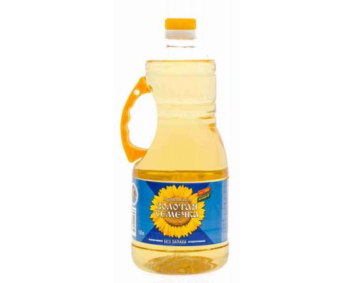 Масло подсолнечное Золотая Семечка рафинированное дезодорированное 1,8л