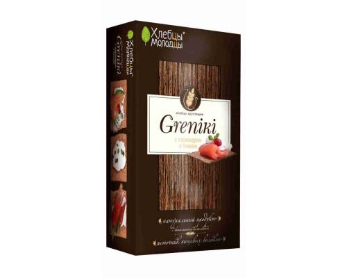 Хлебцы Молодец «Greniki» хрустящие с кориандром и тмином 150г