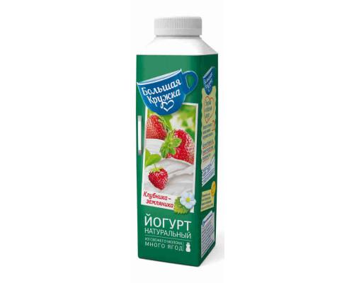 Йогурт питьевой Большая кружка клубника-земляника 2,5% 500г тт