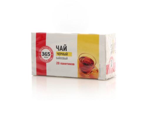 Чай черный байховый индийский в пакетиках 20*2г ТМ 365 дней