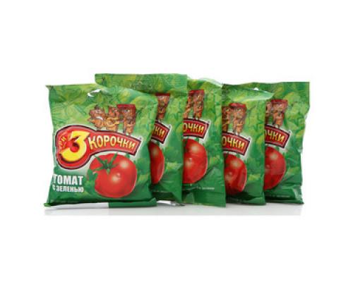 Сухарики ржаные со вкусом томата и зелени 5*40г ТМ 3 Корочки