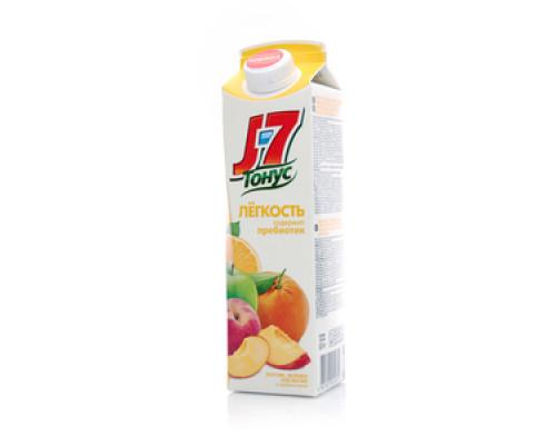 Нектар из апельсинов,яблок и персиков обогащенный пребиотиками ТМ J7 (Джей севен) Тонус