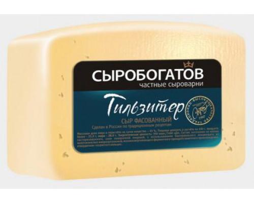 Сыр Тильзитер ТМ Сыробогатов, кусок, 45%, 200 г