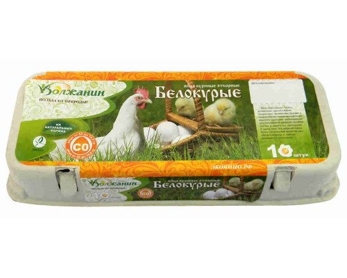 Яйцо куриное СО Белокурые Волжанин 10шт