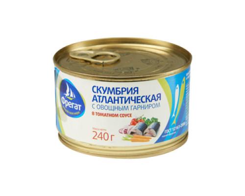 Скумбрия с овощным гарниром в томатном соусе ТМ Фрегат