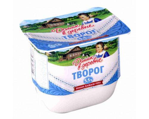 Творог мягкий Домик в деревне 5,5% 200г пл/б