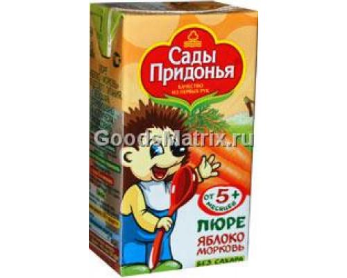 Пюре ТМ Сады Придонья яблоко-морковь, 125 г