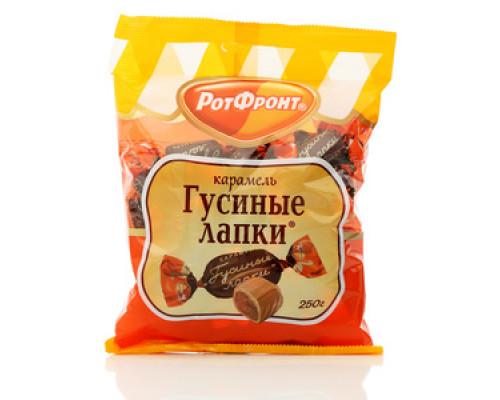 Карамель с шоколадно-ореховой начинкой Гусиные лапки ТМ РотФронт