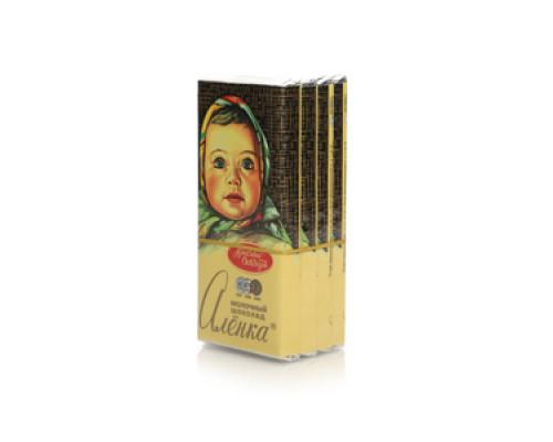 Шоколад молочный 4*60г ТМ Алёнка