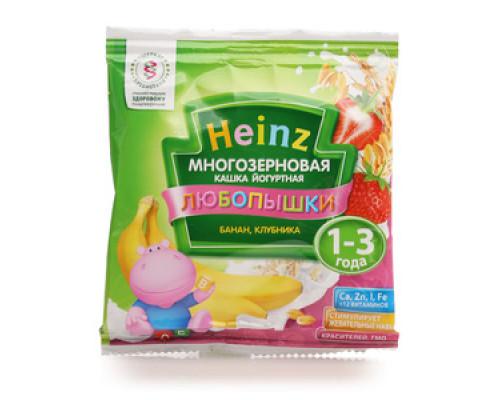 Кашка многозерновая йогуртная банан клубника ТМ Heinz (Хайнц)