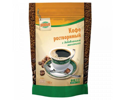 Кофе растворимый ТМ Globus (Глобус) с добавлением молотого, мягкий, 190 г