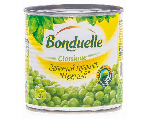 Горошек зеленый Bonduelle 400г ж/б