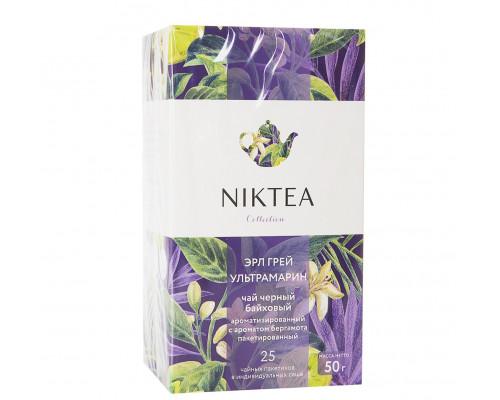 Чай ТМ Niktea (Никти) Earl Grey Ultramarine, ароматизированный, в пакетиках, 25 шт.