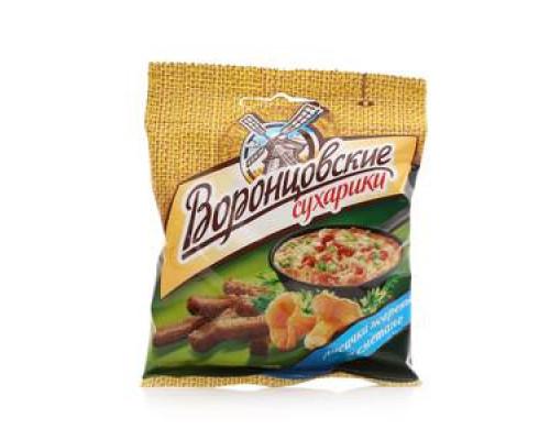 Сухарики со вкусом грибы со сметаной ТМ Воронцовские