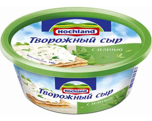 Сыр творожный Hochland с зеленью 140г