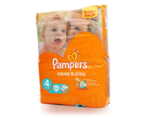 Подгузники Sleep&Play 4 (7-14кг) 86 шт. maxi (макси) ТМ Pampers (Памперс)