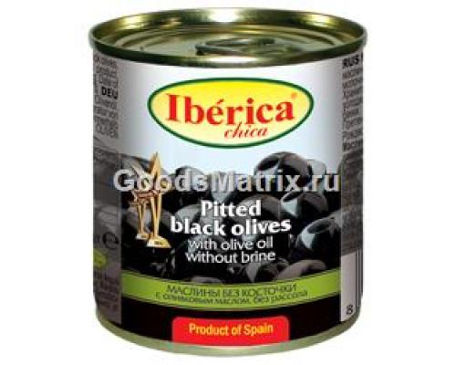 Маслины чика ТМ Iberica (Иберика) без косточки, без рассола, в оливковом масле, 90 г