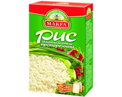 Рис ТМ Макфа длиннозерный, пропаренный, 400 г