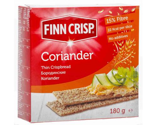 Сухарики ТМ Finn Crisp (Финн Крисп), Бородинские с кориандром 180 г