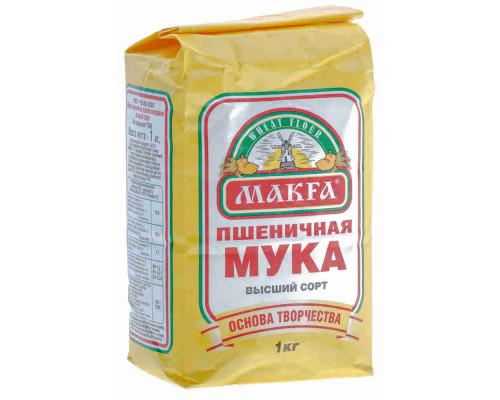 Мука пшеничная Макфа в/с 1кг
