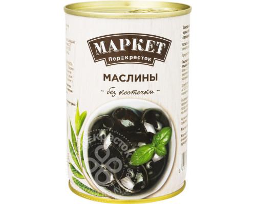 Маслины ТМ Маркет Перекресток, без косточки, 400 г